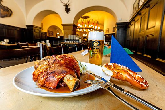 Augustiner Original Building and Restaurant, Food and Drinks